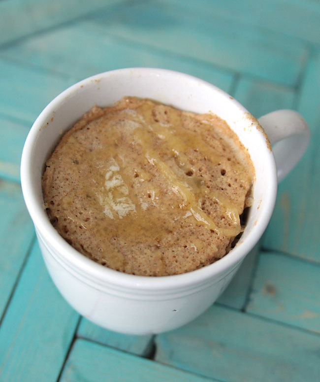 how to make a single serving whole wheat muffin in the microwave - fast, easy & healthy!