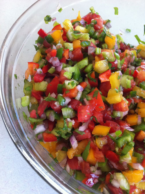 fresh tomato salsa in a bowl