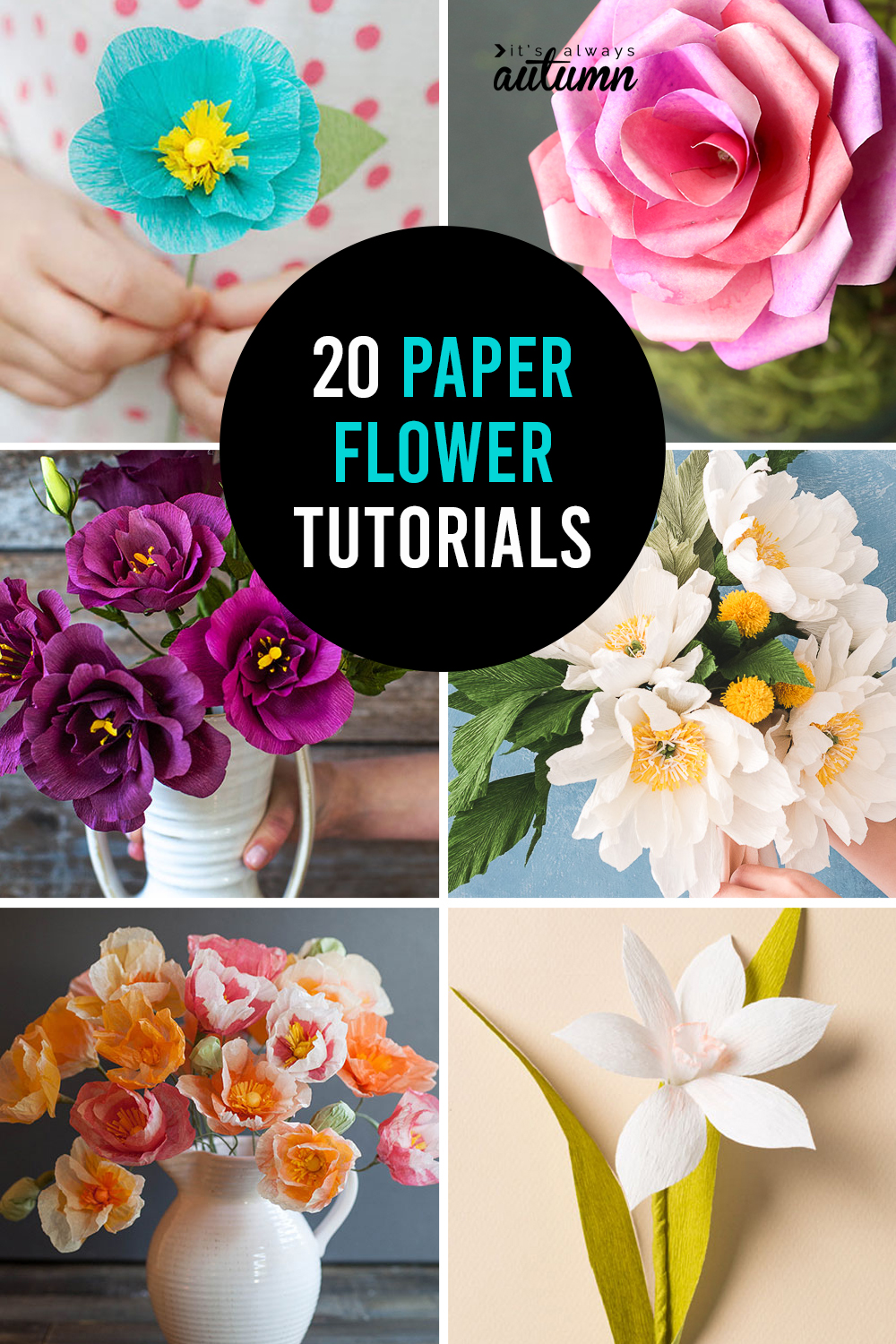 How to make paper flowers - 20 gorgeous DIY paper flower tutorials