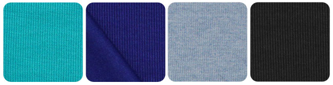 blue ribbed knit fabric