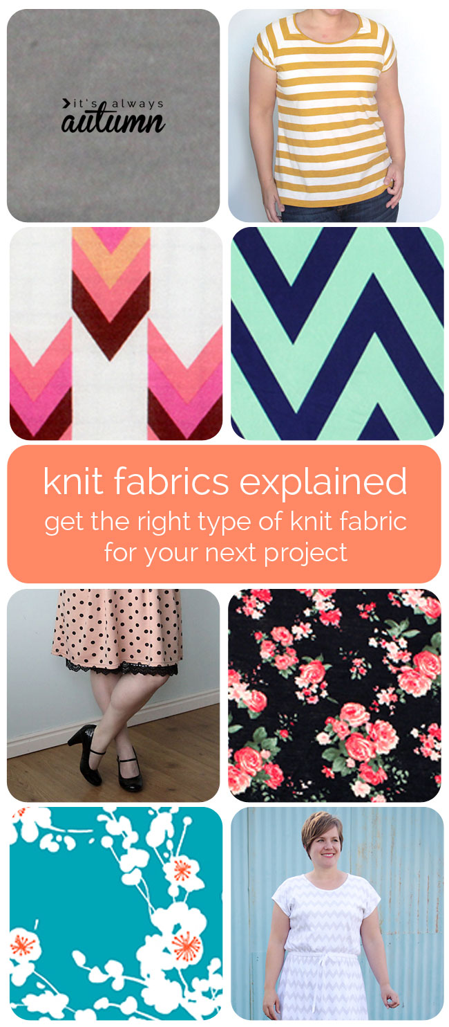 collage of different knit fabrics