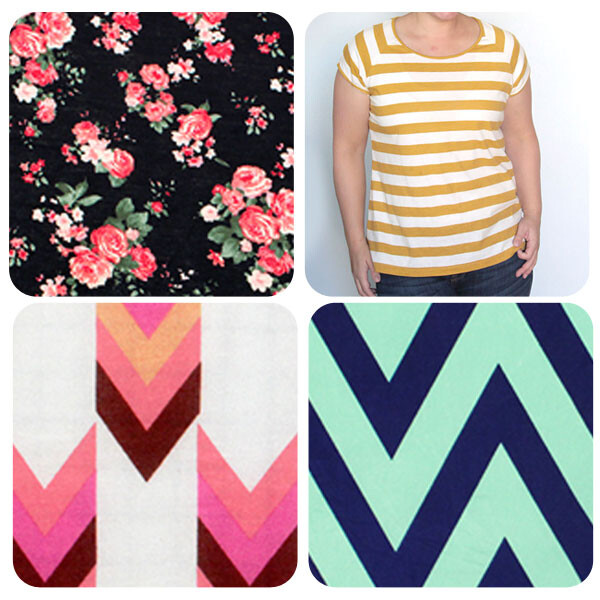collage of fabric patterns