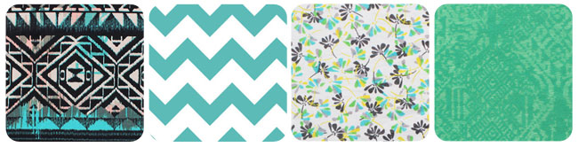 chevron fabric pattern; floral fabric