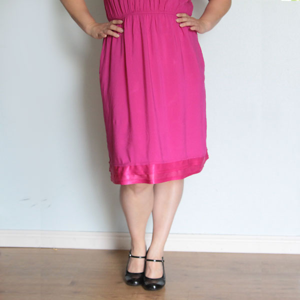 make a dress longer using the lining | sewing tutorial
