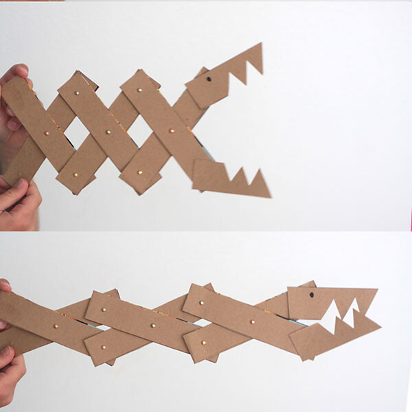 Monster jaws toy made from cereal box