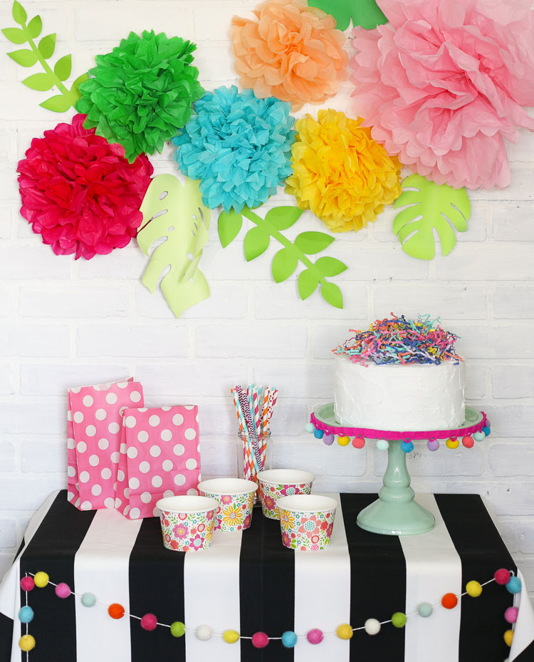 Tissue paper flowers make great decorations for parties! Learn how to make them.