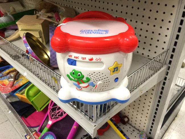 childs toy drum
