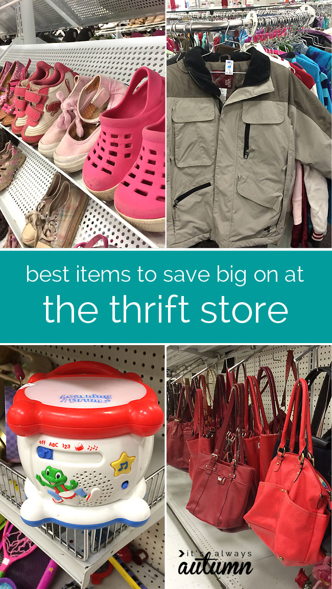 how to get great deals at the thrift store - what to buy to save money