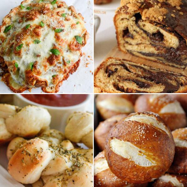 collage of delicious bread recipes