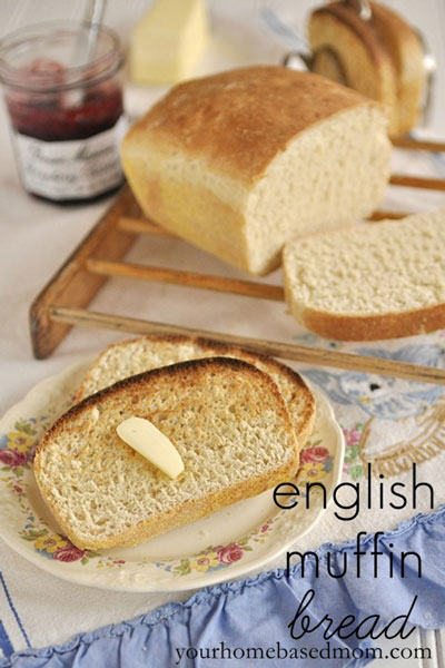 toasted slices of english muffin bread on a plate