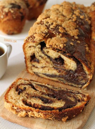 swirled chocolate bread