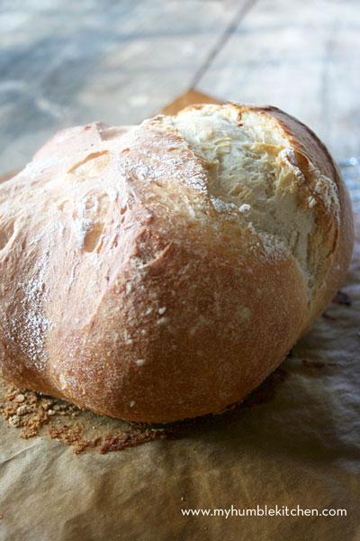 loaf of rustic European bread