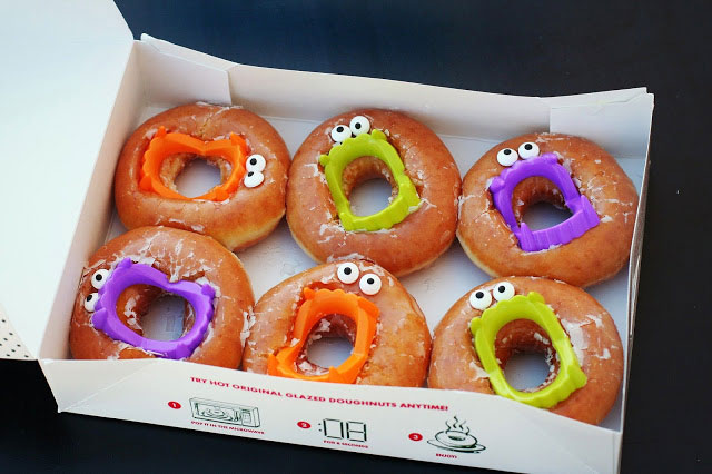 Monster Donuts with Halloween teeth inside them