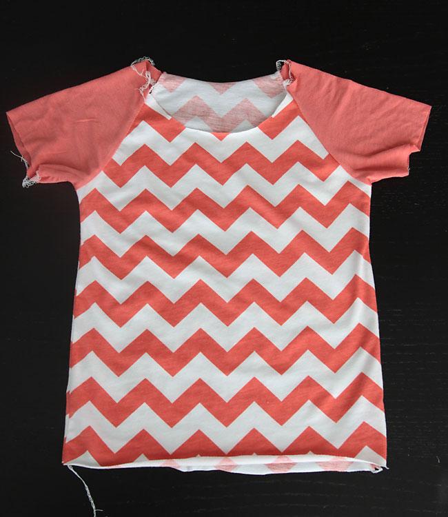 Shirt sewn together