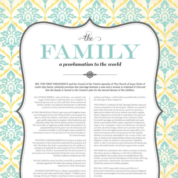The Family a Proclamation to the World art print