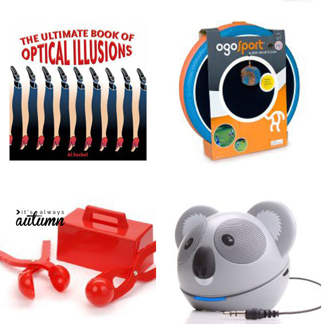collage of Christmas gift ideas for kids and tweens