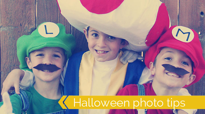 boys dressed as Mario, Luigi, and Toad