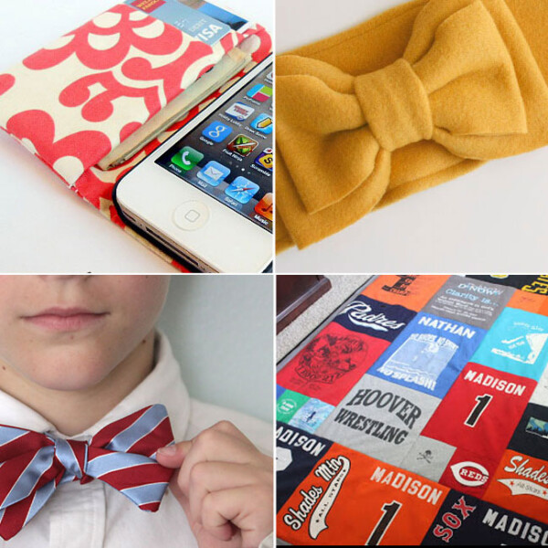 collage of gifts to sew for teens