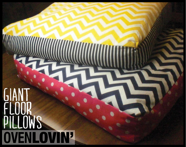 giant floor pillows you can sew