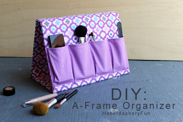 Fabric A-frame beauty supply orgaizer