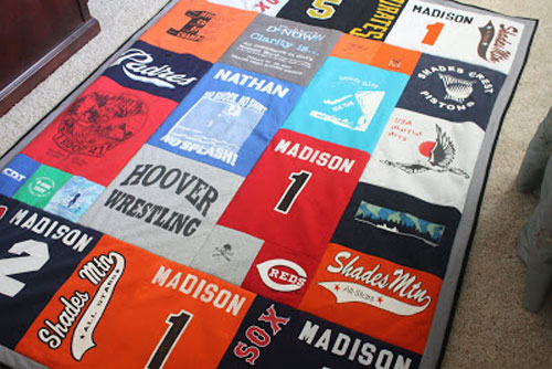 t-shirt quilt gift for teens