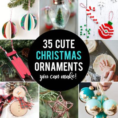 35 beautiful homemade Christmas ornaments