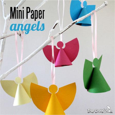 Mini paper angel Christmas ornaments