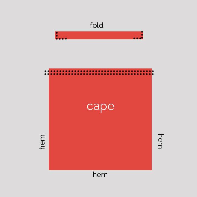 cape sewing diagram