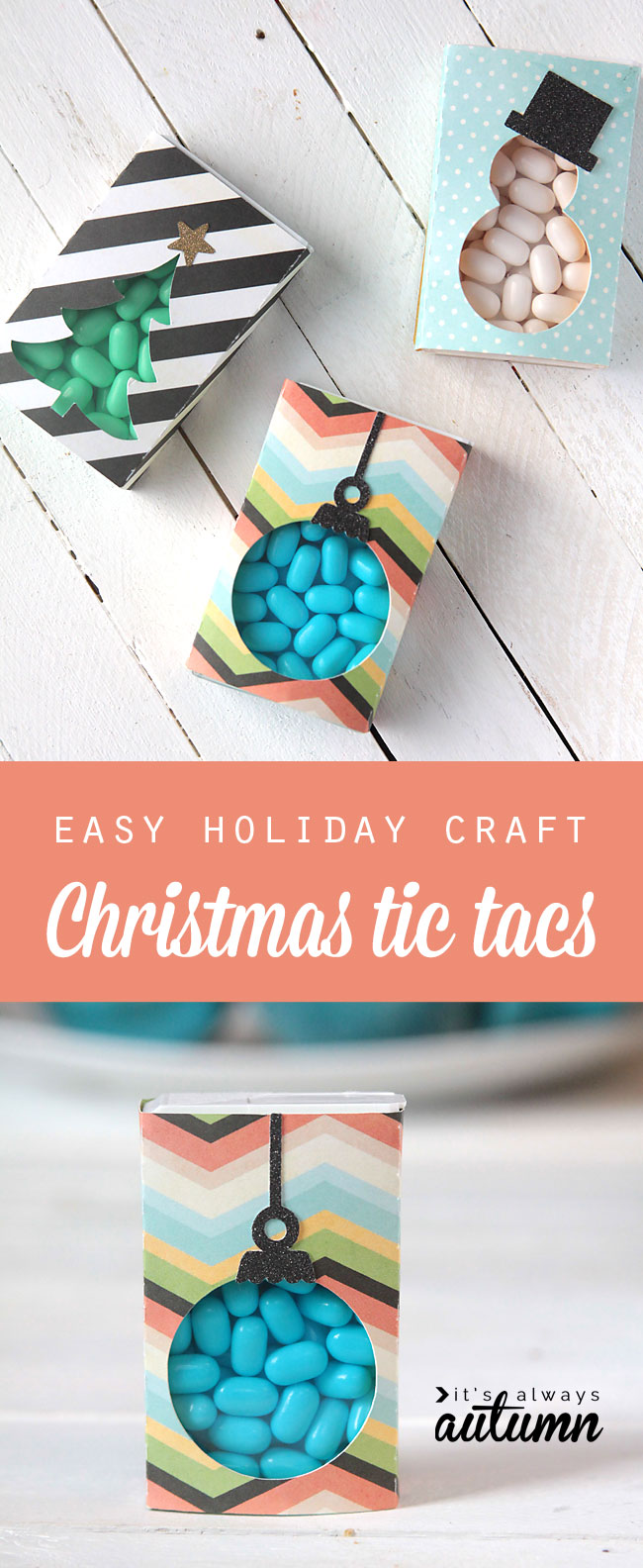 Christmas tic tac paper covers