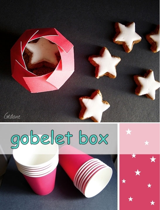Cookie box made from a paper cup