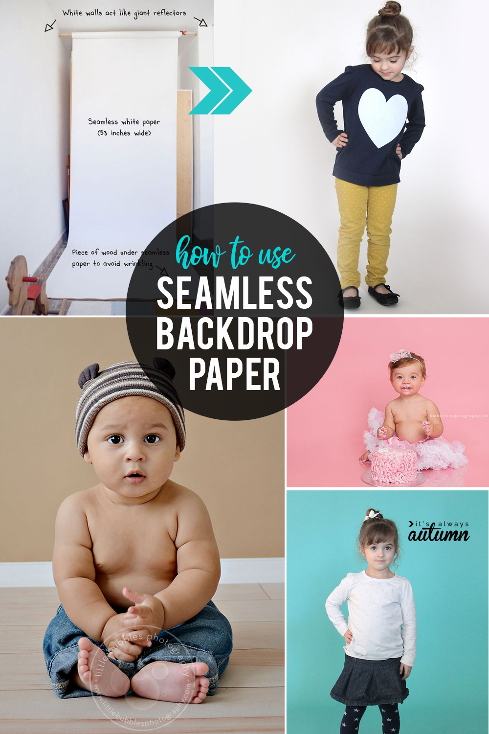How to use seamless backdrop paper for beautiful, professional looking photos at home.