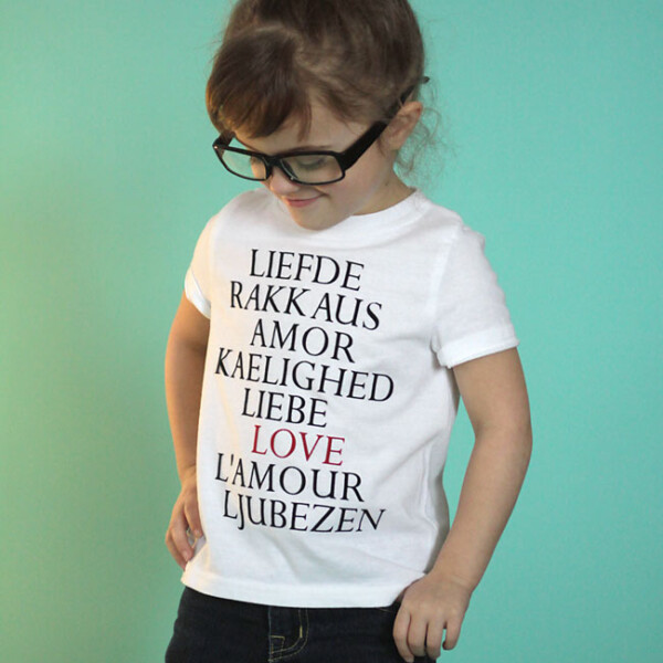 """cute! easy j.crew knockoff graphic tee """"LOVE"""" shirt. perfect for Valentine's day!"""