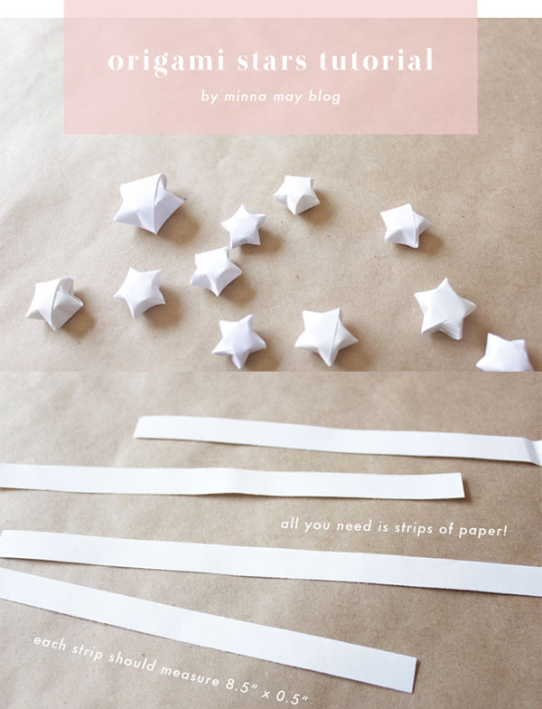 Paper origami stars tutorial