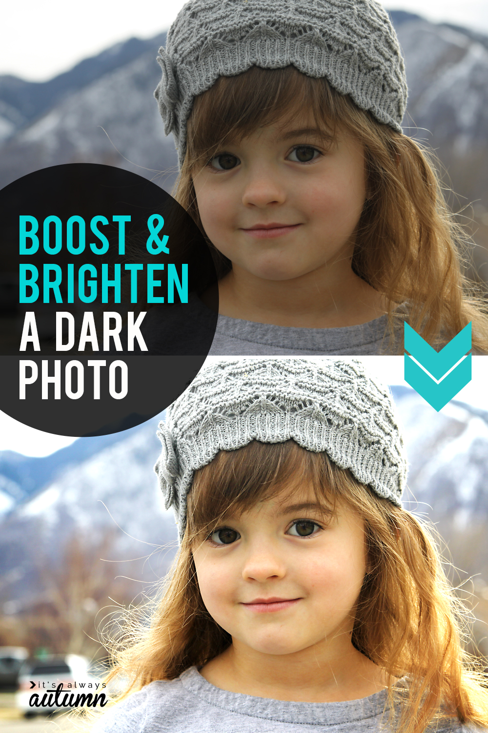 Learn how to brighten a dark photo. Easy photo editing tips for beginners.