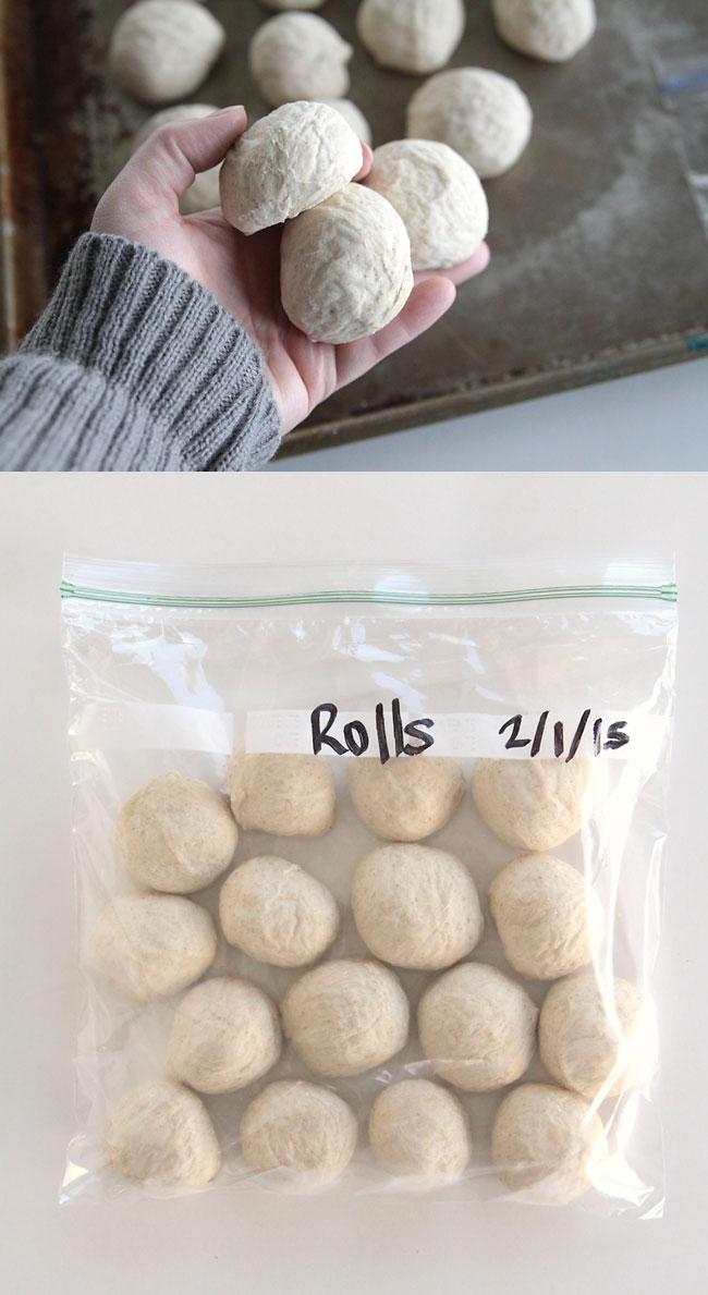 how to make rolls in advance & bake later {fridge & freezer methods} - It's  Always Autumn