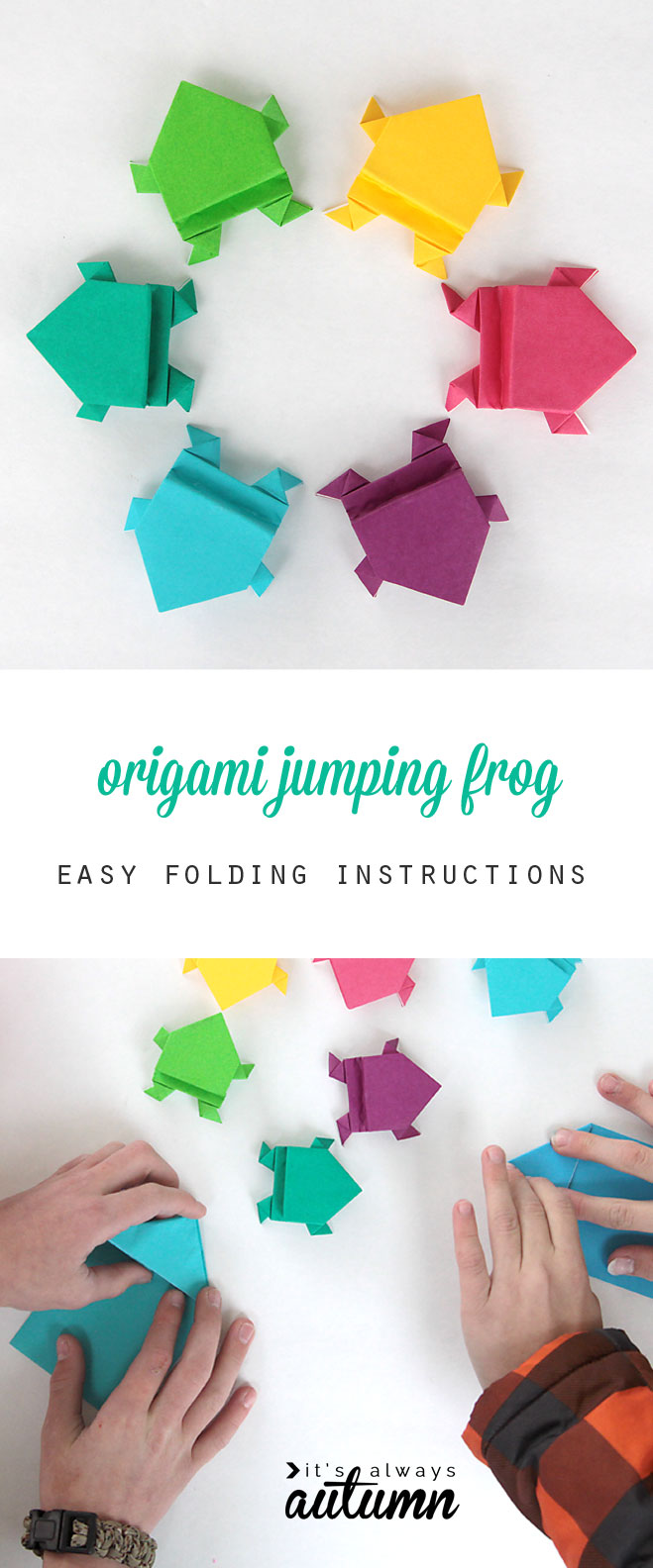 Origami Frogs Tutorial - Origami for Kids - Easy Peasy and Fun | 1584x659