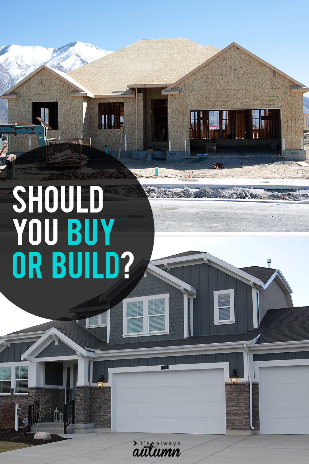Should you buy or build your next house? Click through for pros and cons of both options.