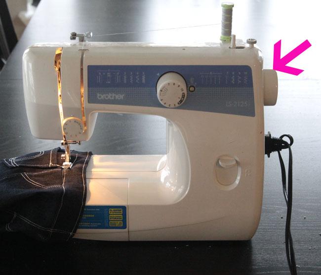 sewing machine hand crank