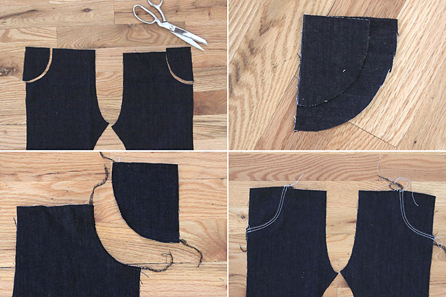 cool! easy way to sew girls skinny jeans using just a leggings pattern