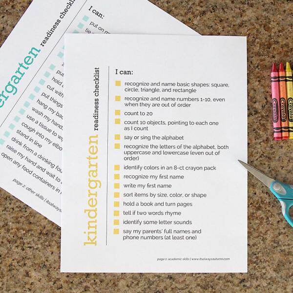 List of things kids should know before kindergarten