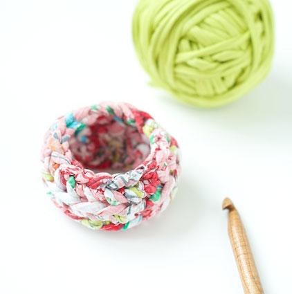 Tiny crochet basket