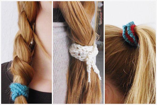 Easy crochet hair tie