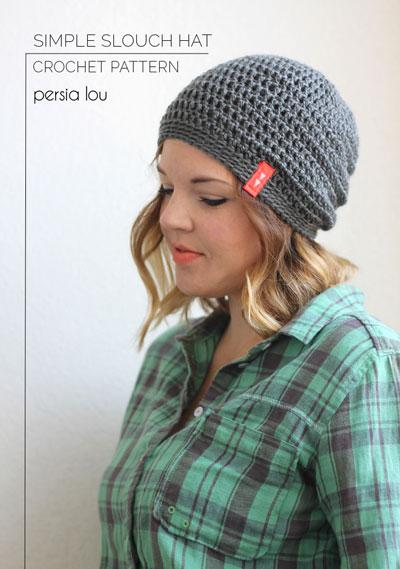 Simple slouch hat beginner crochet pattern