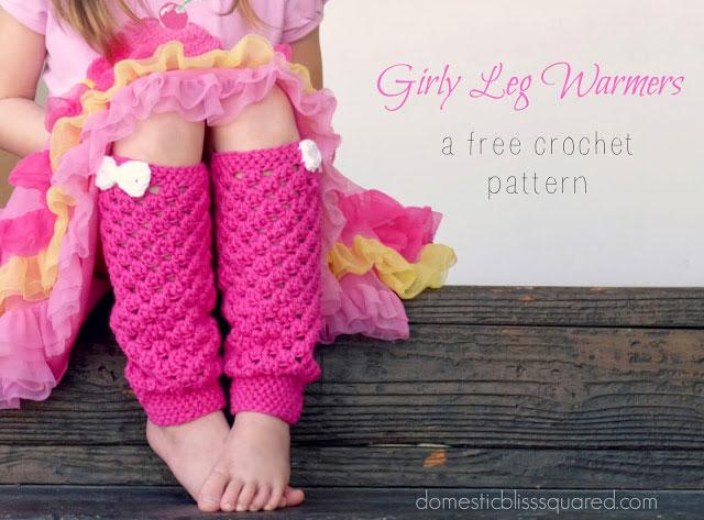 Girls leg warmers free crochet pattern