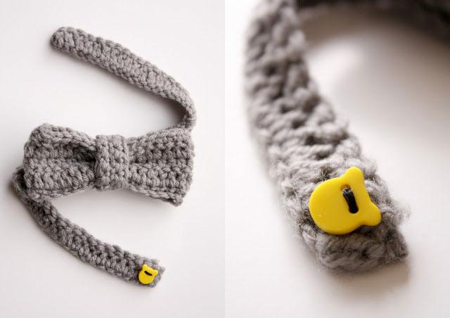 Easy crochet bow tie
