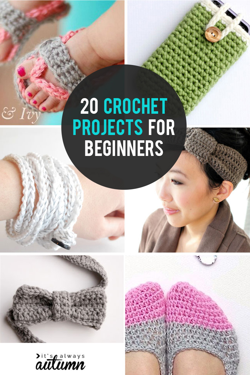20 easy, quick crochet projects perfect for beginners!