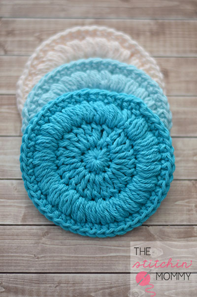 Easy crochet project: small round scrubbies