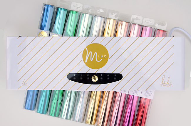 colorful rolls of foil and the minc foil applicator