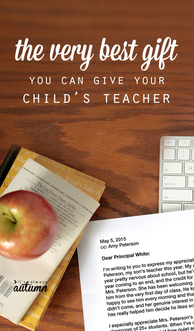 Letter to a principal - best gift for your child\'s teacher