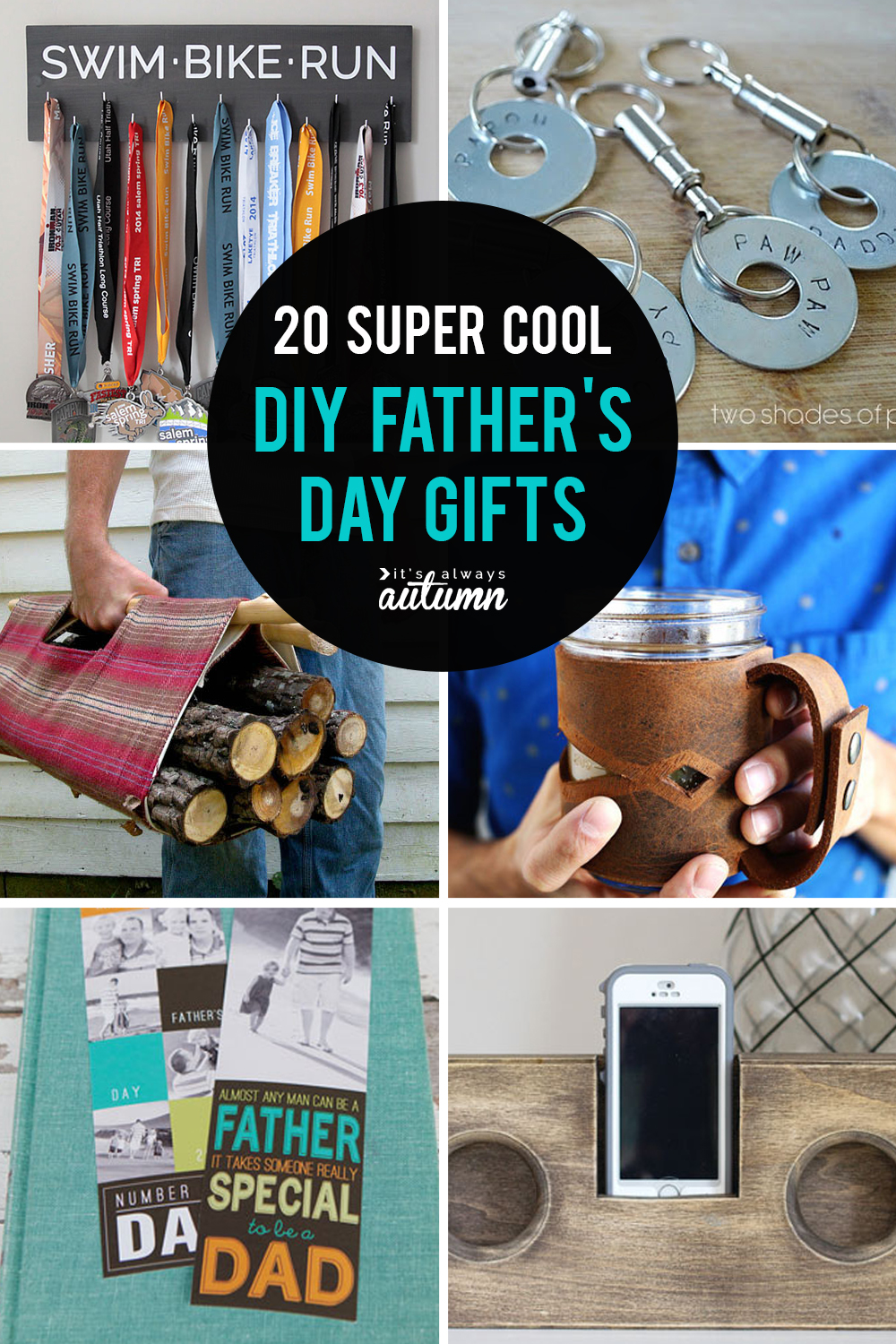 20 super cool DIY Father's Day gifts! Homemade gifts for Dad. Click through for all the tutorials.